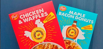 Llegan la nueva locura desde Estados Unidos: los cereales americanos de Chicken and Waffle y Mapple and Beacon Donuts